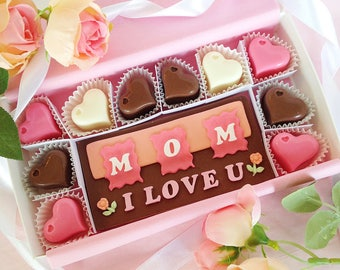 Happy Mother's Day - Mother's Day Chocolates - I Love You Mom Chocolates