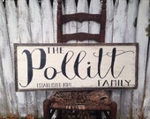 Reserved for Patty - 14x42 Family Name Sign