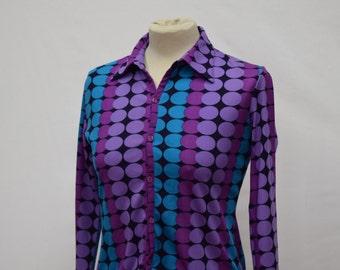 1960s style Polka Dot Print Womens Top