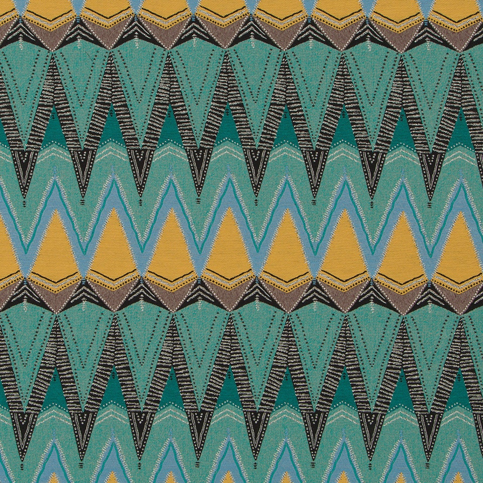 Teal Gold Upholstery Fabric for Furniture Modern Black Gold