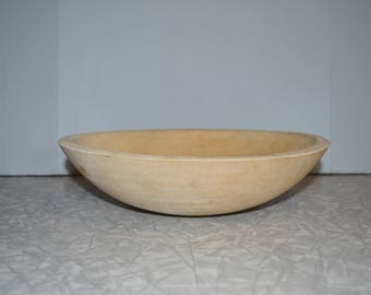 Wood Dough Bowl ~ Primitive Wood Bowl ~ Farmhouse Decor ~ Rustic Bowl ~ Epsteam