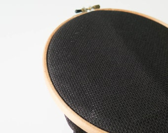 Cross Stitch Fabric - 14 count Aida Cloth | 100 percent cotton Aida Fabric in Black