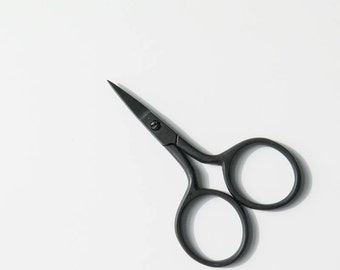 Embroidery Scissors   Thread Snips, Sewing Scissors, Knitting Scissors, Small Black Scissors