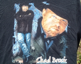 Vintage 1990s Chad Brock Country Concert Tour Black T-Shirt XL by Stedman 100% Cotton