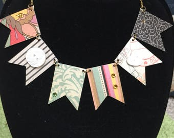 Bunting & Button Necklace