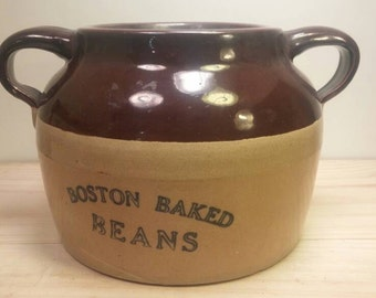 BOSTON BAKED BEANS Great Old Antique Bean Pot Crock