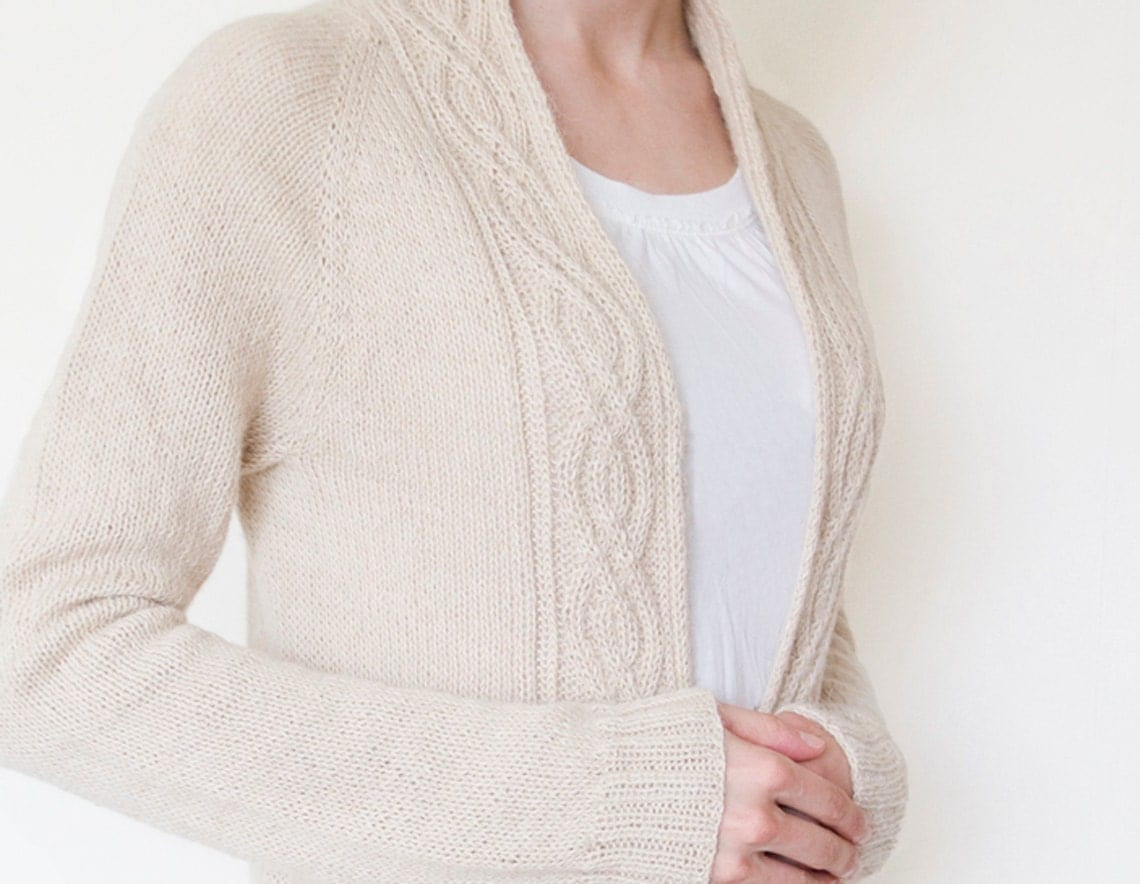 Pdf knitting pattern alpine cardigan open front cardigan this is a digital file bankloansurffo Choice Image
