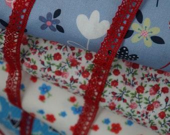 Red 1/2 inch Crochet Cotton Trim