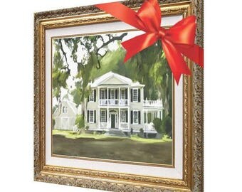 House Portrait - Home Painting - Housewarming Gift - Custom Painting - Reserved for Anie 11x14