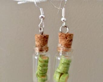 Lime Jar earrings