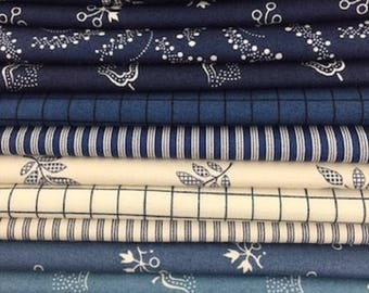 Blue Moon Collection- Fat Quarter Bundle of 12