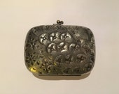 """Derby Silver Co. Antique 1900s Silver Repousse Soap Box 