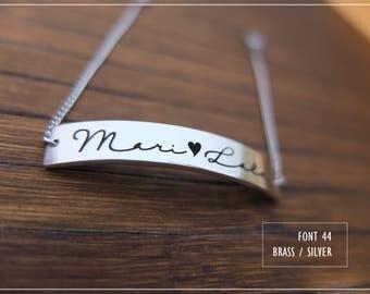 Custom name Bracelet Engraved- Personalized name bracelet -Bridesmaid-Birthday- X'mas-Mother-graduation- Valentine gift#BL44