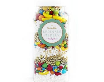 Sweetapolita Twinkle Sprinkles, layered- C'est Parfait 3.5 oz. & 7 oz.