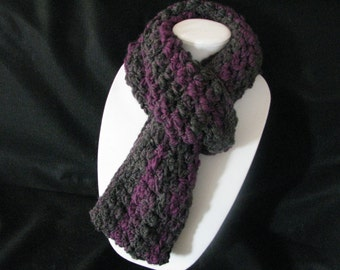 Charcoal and magenta Infinity scarf