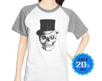 Skull Hat shirt skull top graphic shirt blogger shirt funny hipster shirt tumblr t shirt women t shirt short sleeve shirt unisex size S M L