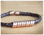 Mens Jewelry • Copper Anniversary Gift • Mens Personalized Jewelry • Copper Bracelet • Mens Bracelet