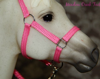 Nylon Halter - Slotted Rings - Breyer Model Horse- 36 Color Choices!