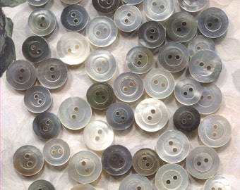 Group of 60 Vintage Mother of Pearl Buttons-Item#166