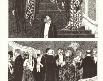 Edward Gorey Art 1979 Opera Staircase Gothic Home Decor Opera Art