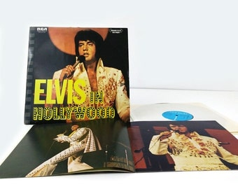 Elvis in Hollywood 12 inch vinyl album with original sleeve and booklet
