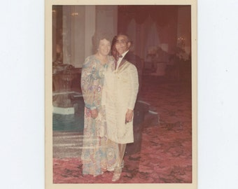 The Other Woman (Double Exposure) c1970s Vintage Snapshot Photo (612528)