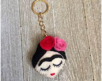Frida Kahlo Purse Handbag Charm Key Chain FOB