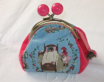 Little Red Riding Hood coin purse- Made in Normandy by Bergamote & Jasmin