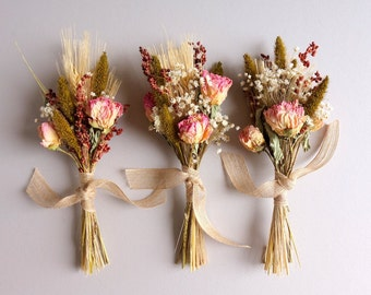 Dried Flower Bundles, Wedding Table Decor, Bridesmaides Gift, Wedding Centerpiece, Dried Flowers, Pew Decoration, Aisle Chair Decoration