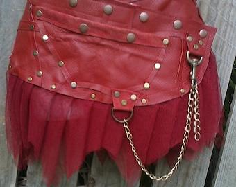 "burning man festival belt woodland belt,bohemian belt, gypsy belt, quality leather  belt/skirt.....32"" to 40"" hip or waist.."