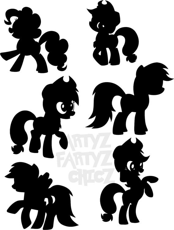 My little pony birthday black and white
