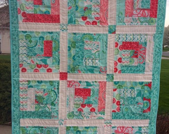 Coral Queen of the Sea Baby Quilt