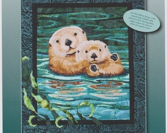 Sea Otters Quilt Pattern by Toni Whitney Design, DIY Quilting Sewing
