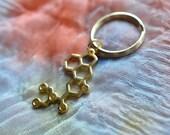 Biolojewelry - LSD Molecule Keychain
