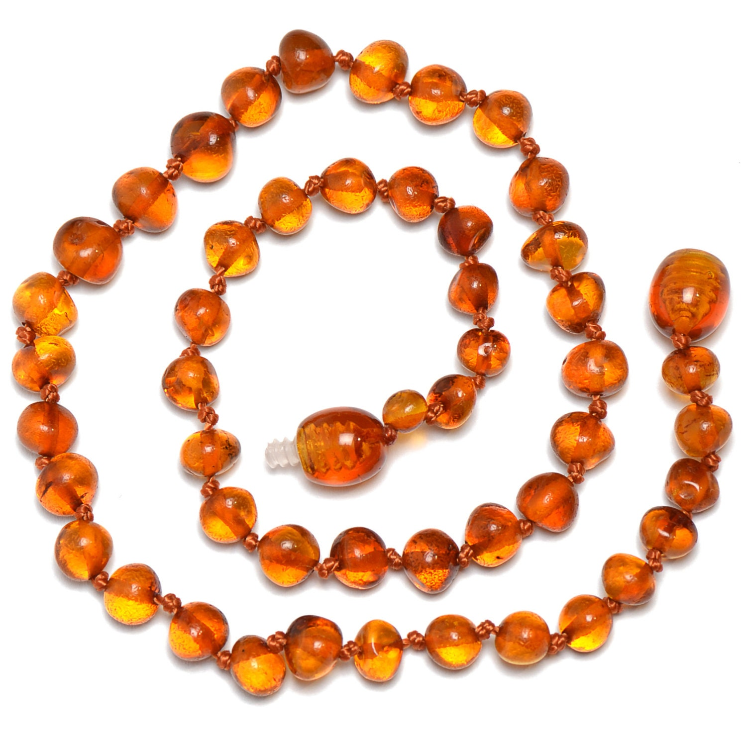 Hand Made Baltic Amber Teething Necklace For Babies Safety