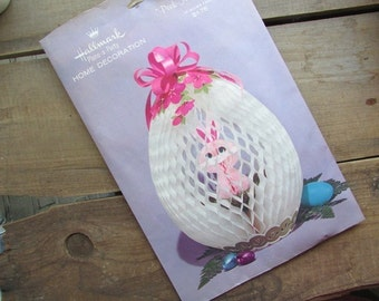 Hallmark Easter Decoration Honeycomb Bunny In An Egg