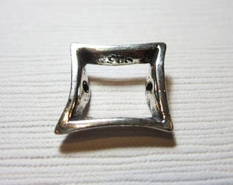 Sterling Silver Bead Frame Square 13mm- 1 PIECE