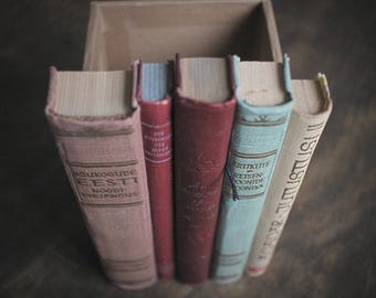 """Secret Compartment Victoria """"Soft red"""", Recycled Book Spine Box"""