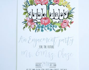 ENGAGEMENT or REHEARSAL DINNER Invitations