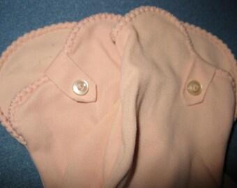 Pink 1960's Wrist Gloves Spring Easter Sunday Ladies Girls Gloves size 6.5