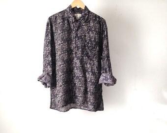 vintage SILK versace LONG sleeve baroque shirt