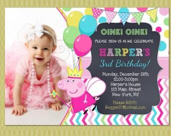 Peppa Pig Invitation, Peppa Pig Birthday Invitations, Peppa Pig Printable, Peppa Pig Party Personalized, Peppa Pig Birthday