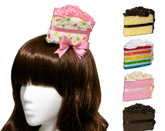 Bakery Sweets Cake Slice Fascinators and Headbands - Many Cake and Frosting Flavors Available!