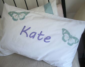 Pillow case, personalised, name, handpainted, 100% cotton, birthday, anniversary, special occasion