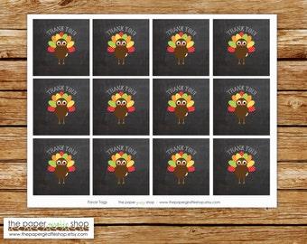 Little Turkey Favor Tags   Our Little Turkey Party   Turkey Birthday Party Favor Tags   Turkey Party   Our Little Turkey Birthday