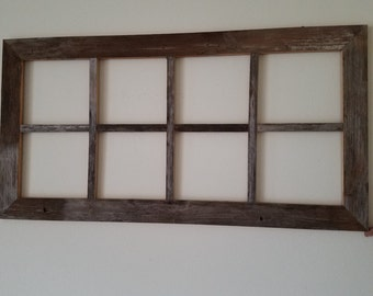 8 panel distressed wood window no/glass