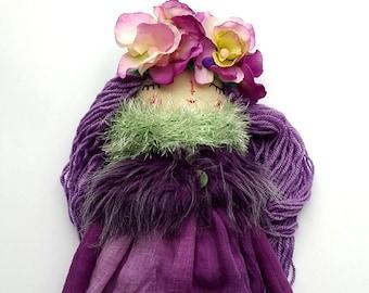 Spring Doll, Dress Up Doll, Rag Doll, OOAK Doll, Cloth Art Doll, Heirloom Doll, Gift for Girls
