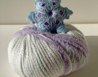 Snowflake Knit Knitting Crochet Hat Kit Top This by DMC Baby Kids Teen Adult