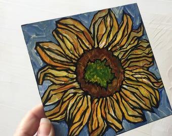 Sunflower Bloom original painting
