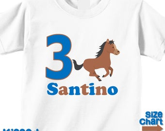 Personalized Pony Horse Riding Horseback Birthday Party Shirt Boys 1st First 2nd 3rd 4th 5th 6th Birthday Party Horses Ponies Riders
